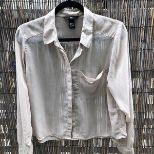 Cream Colored H&M Button-Up Blouse